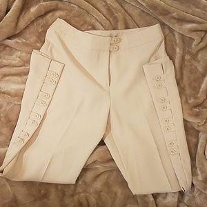Cream wide leg pants size 8p